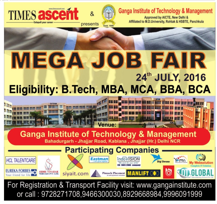 TOI Ascent Job Fair 20-07-2016 page no. 18